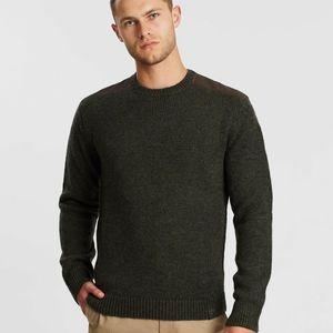 Driza Bone Olive Knit Sweater Crewneck Mens Size M